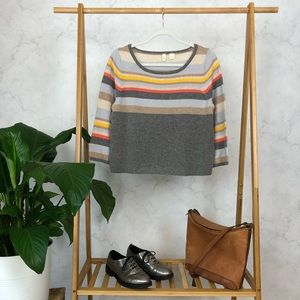 Anthropologie Moth Midi Stripe Cashmere Sweater